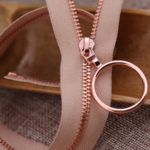 rose gold metal zippers wholesale