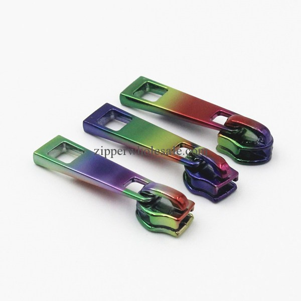 colored rainbow zipper pulls wholesale