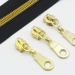 YaHoGa #5 Gold Metallic Nylon Coil Zippers