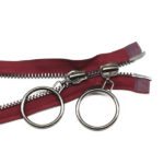 metal zippers for coats jackets