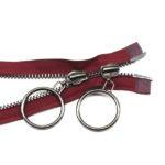 metal zippers for coats jackets