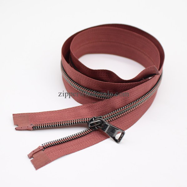 Metallic Black Nickel Nylon Coil Zippers