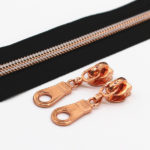 YaHoGa Metallic Rose Gold Nylon Zippers Rose Golden Sliders