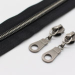 #5 Gunmetal Metallic Nylon Coil Zippers By The Yard Bulk