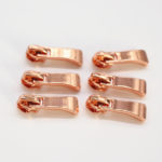 rose gold zipper pulls wholesale