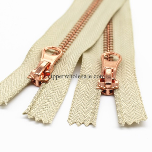 metal zippers for sewing for sale