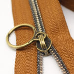 YaHoGa metallic antique brass nylon zipper wholesale price