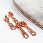 YaHoGa metallic rose gold nylon zipper uk online