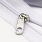 YaHoGa #3 White Nylon Coil Zippers By The Yard Bulk